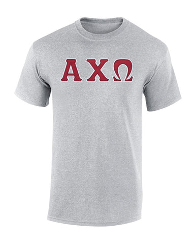 Alpha Chi Omega Twill Letter Tee