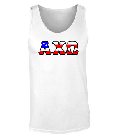 Alpha Chi Omega American Flag Tank Top