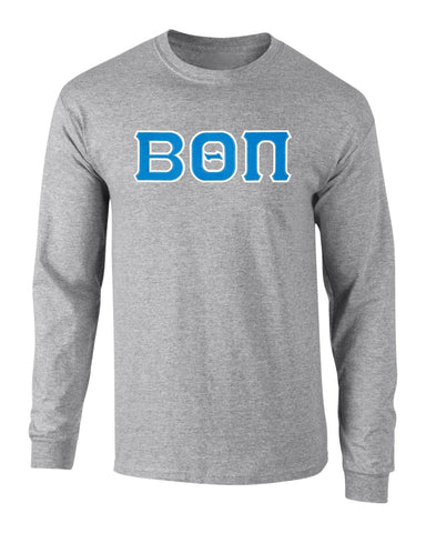 Beta Theta Pi Twill Letter Long Sleeve Tee