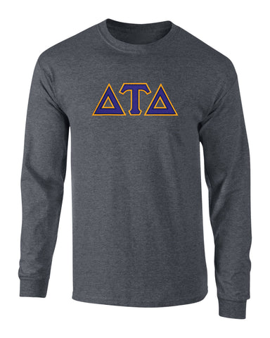 Delta Tau Delta Twill Letter Long Sleeve Tee
