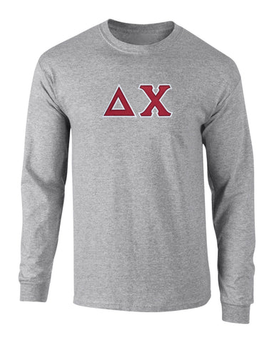 Delta Chi Twill Letter Long Sleeve Tee