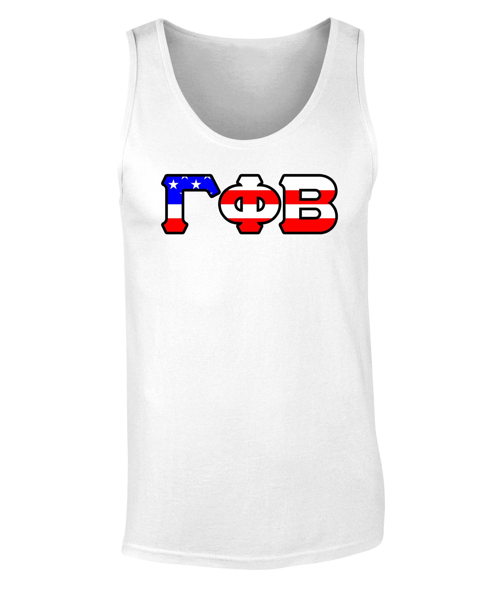 Gamma Phi Beta American Flag Tank Top