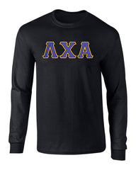 Lambda Chi Alpha Twill Letter Long Sleeve Tee