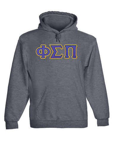 Phi Sigma Pi Twill Letter Hoody