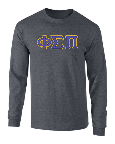 Phi Sigma Pi Twill Letter Long Sleeve Tee