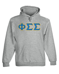 Phi Sigma Sigma Twill Letter Hoody