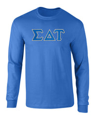 Sigma Delta Tau Twill Letter Long Sleeve Tee