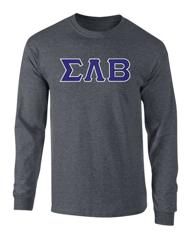 Sigma Lambda Beta Twill Letter Long Sleeve Tee