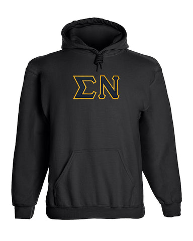 Sigma Nu Twill Letter Hoody