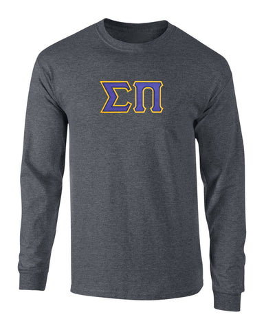 Sigma Pi Twill Letter Long Sleeve Tee