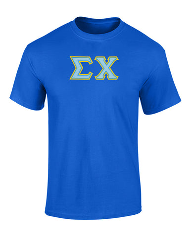 Sigma Chi Twill Letter Tee