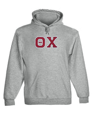 Theta Chi Twill Letter Hoody