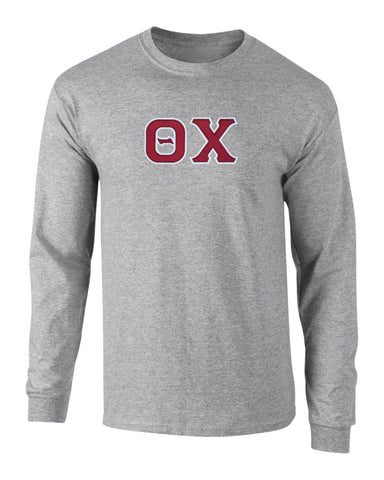 Theta Chi Twill Letter Long Sleeve Tee
