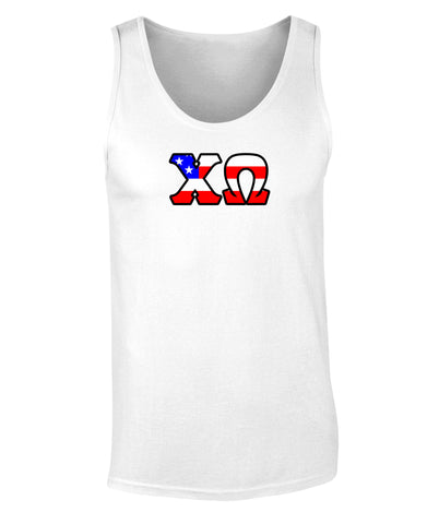 Chi Omega American Flag Tank Top