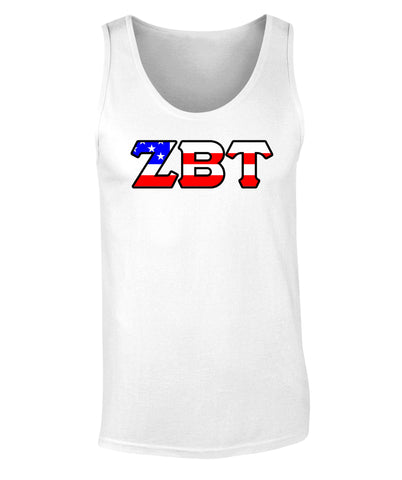 Zeta Beta Tau American Flag Tank Top