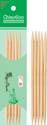 Chiao Goo Bamboo Double Point Needles - Yarnorama