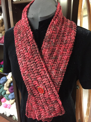 One-Row Keyhole Scarf