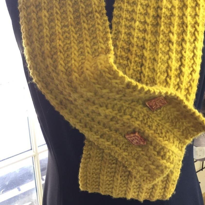 One-Row Keyhole Scarf - Digital Download