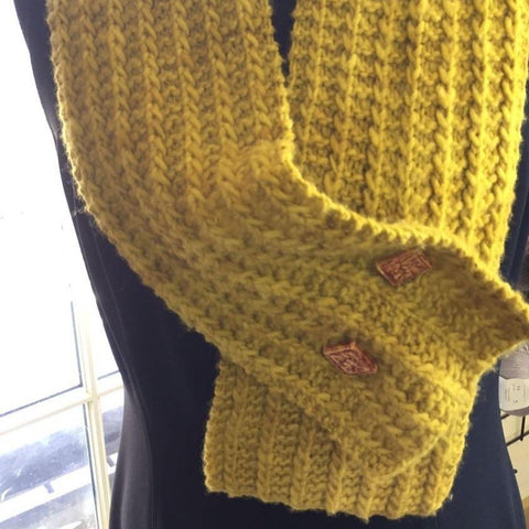 One-Row Keyhole Scarf - Digital Download - Yarnorama