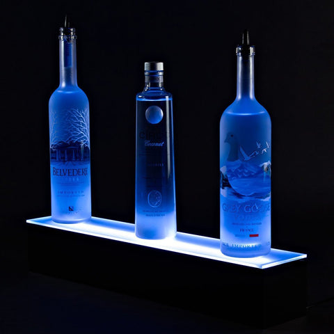 LED Bar Shelf - Basement Bar