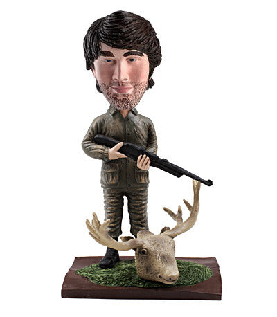 Personalized Moose Hunter Bobble Head - Basement Ideas