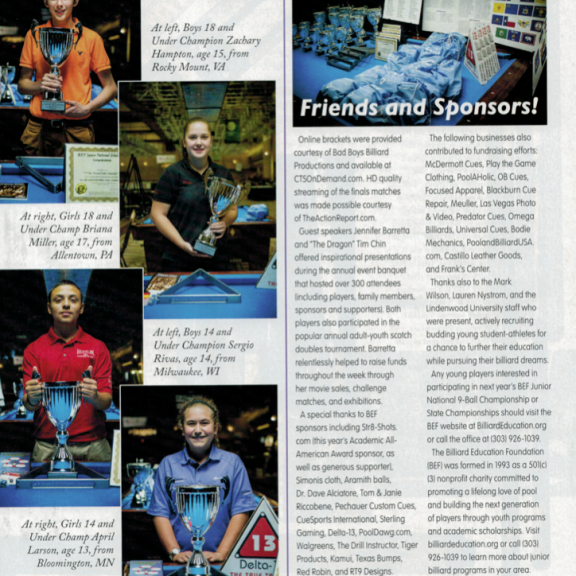 Pool & Billiard Magazine National Junior Championship
