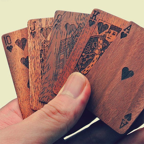 Wooden Deck of Cards for your Poker Room