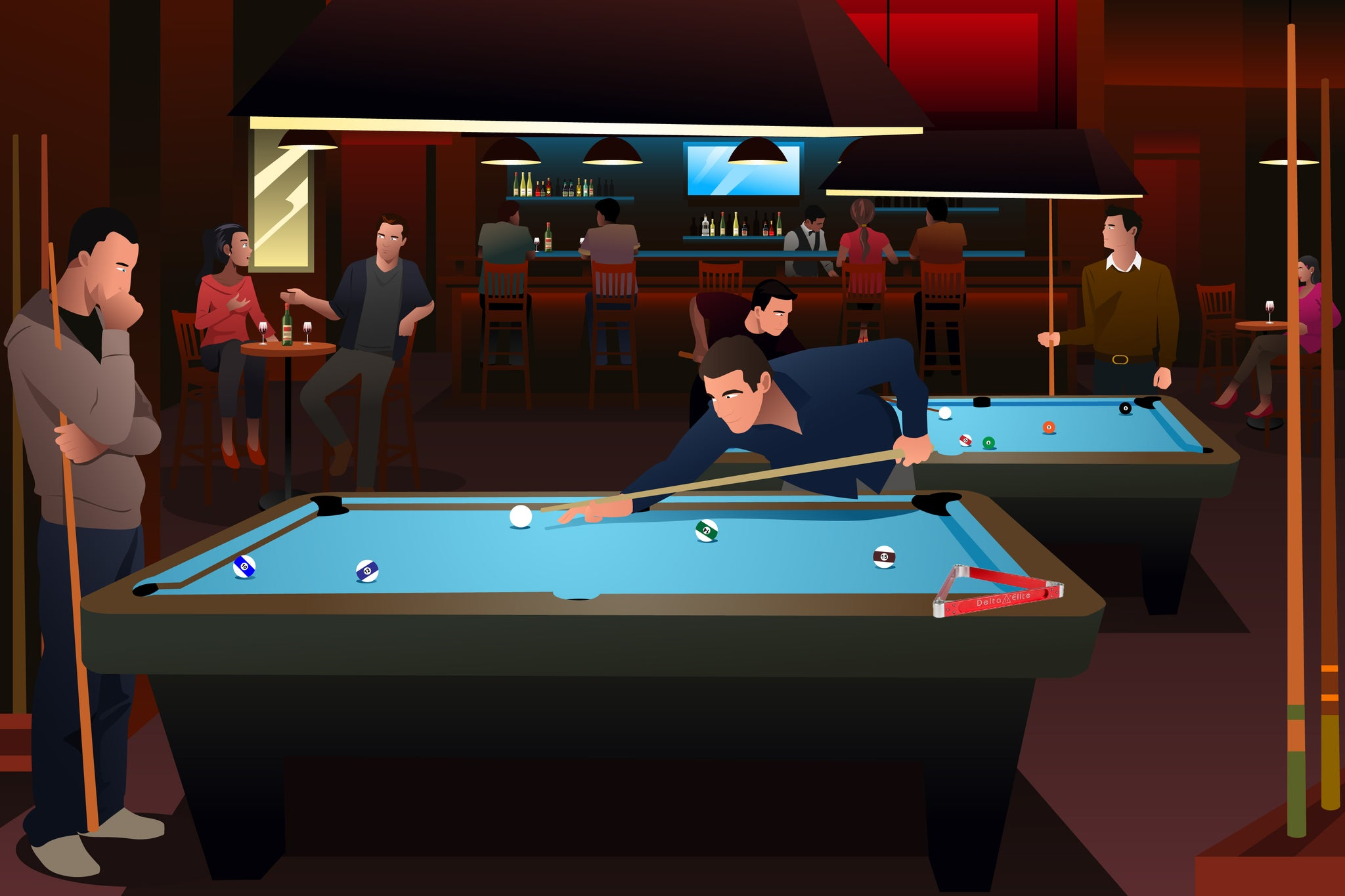 Pool Hall Billiards