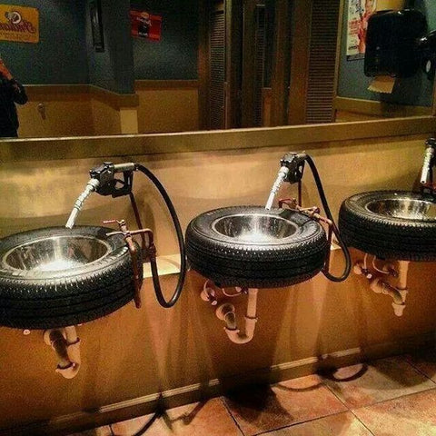 Man Cave Tire Sinks