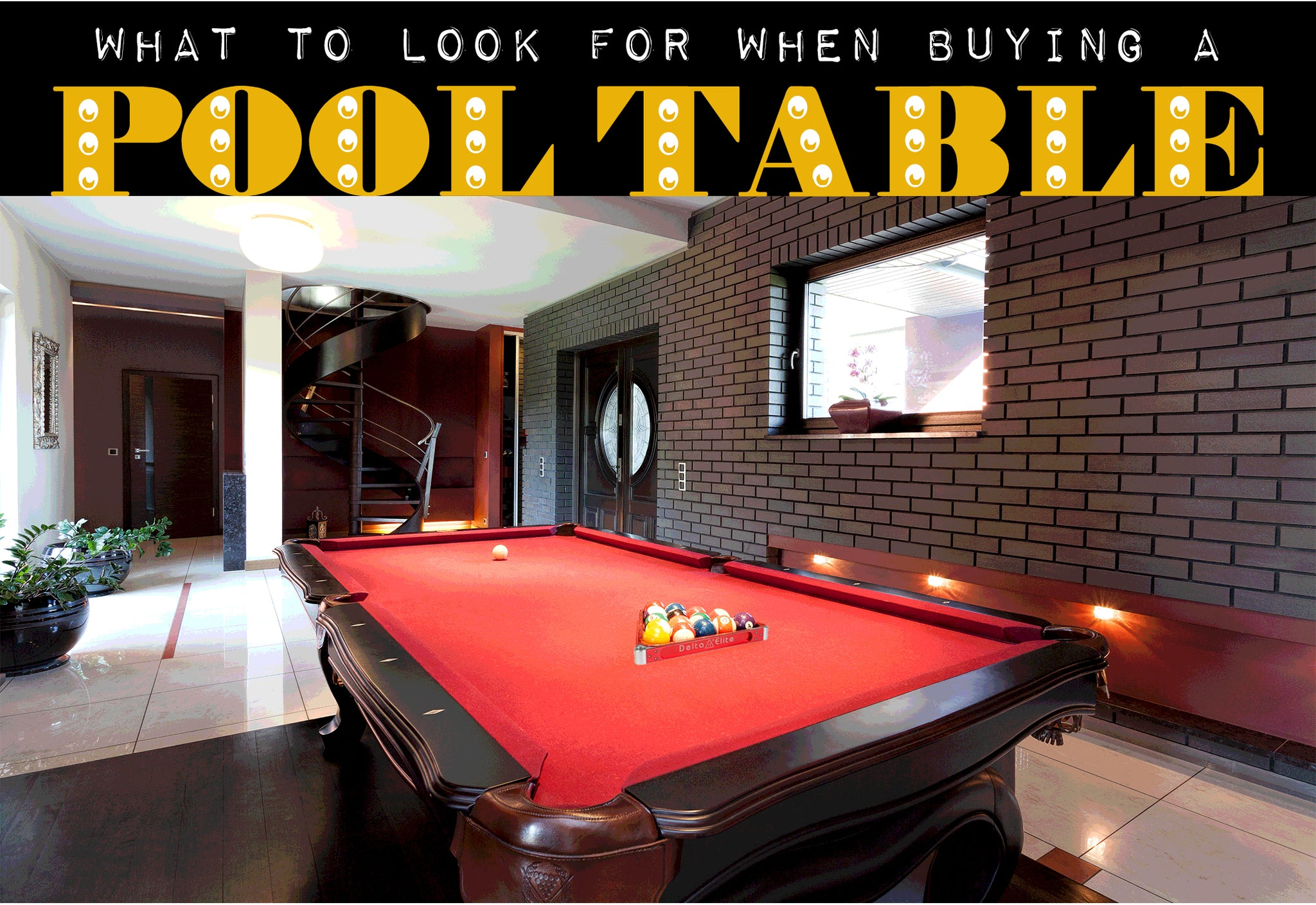 Purchasing a pool table