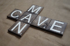 Man Cave Wood Lettering