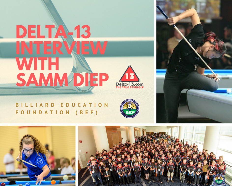Samm Diep and Billiard Education Foundation
