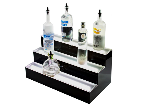 "Armana Productions: 2"" Illuminated 3 Tier LED Bottle Display"