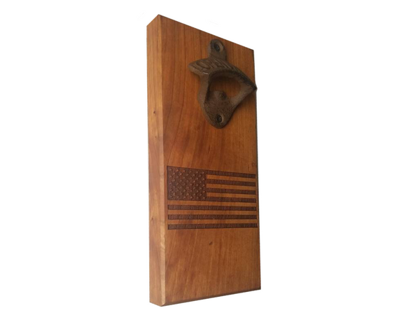 LeRoyWoodworks: American Flag Magnetic Bottle Opener