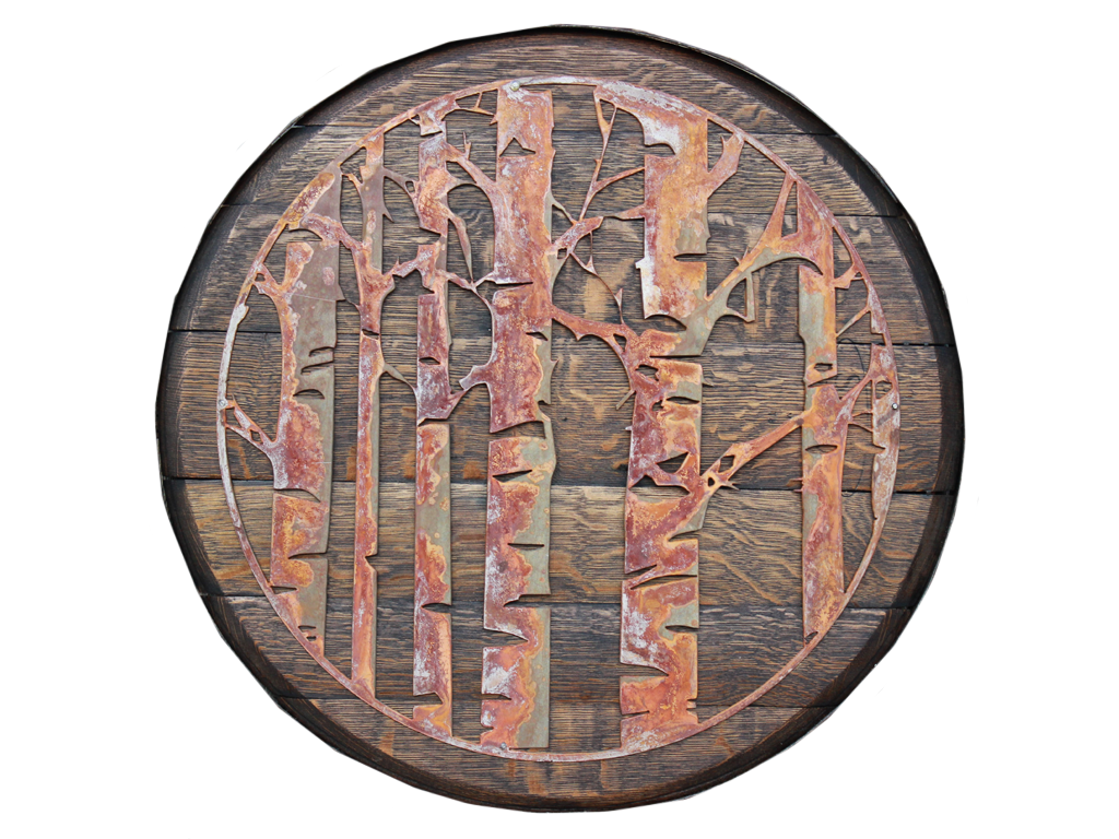 Aspen Tree Oak Barrel