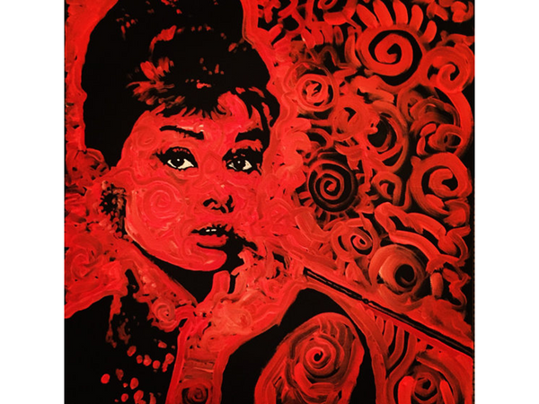Audrey Hepburn Canvas Oil Painting
