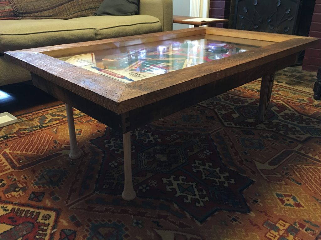 Basement Wood Working: Pinball Coffee Table