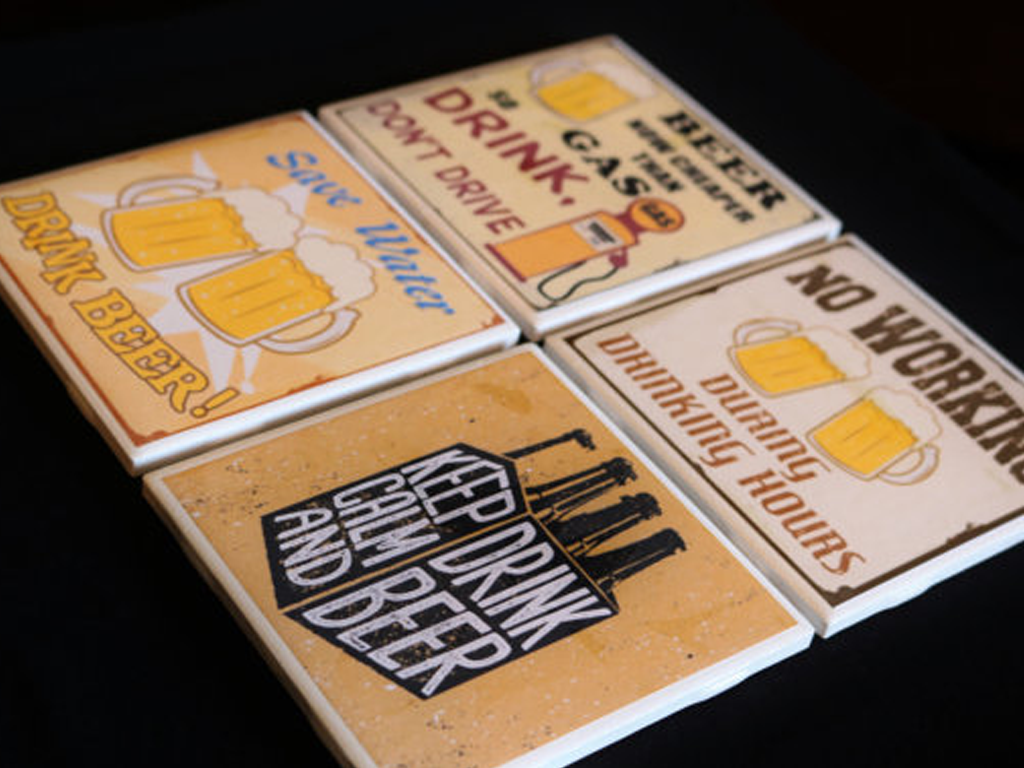 3C Styles and Prints: Beer Coasters