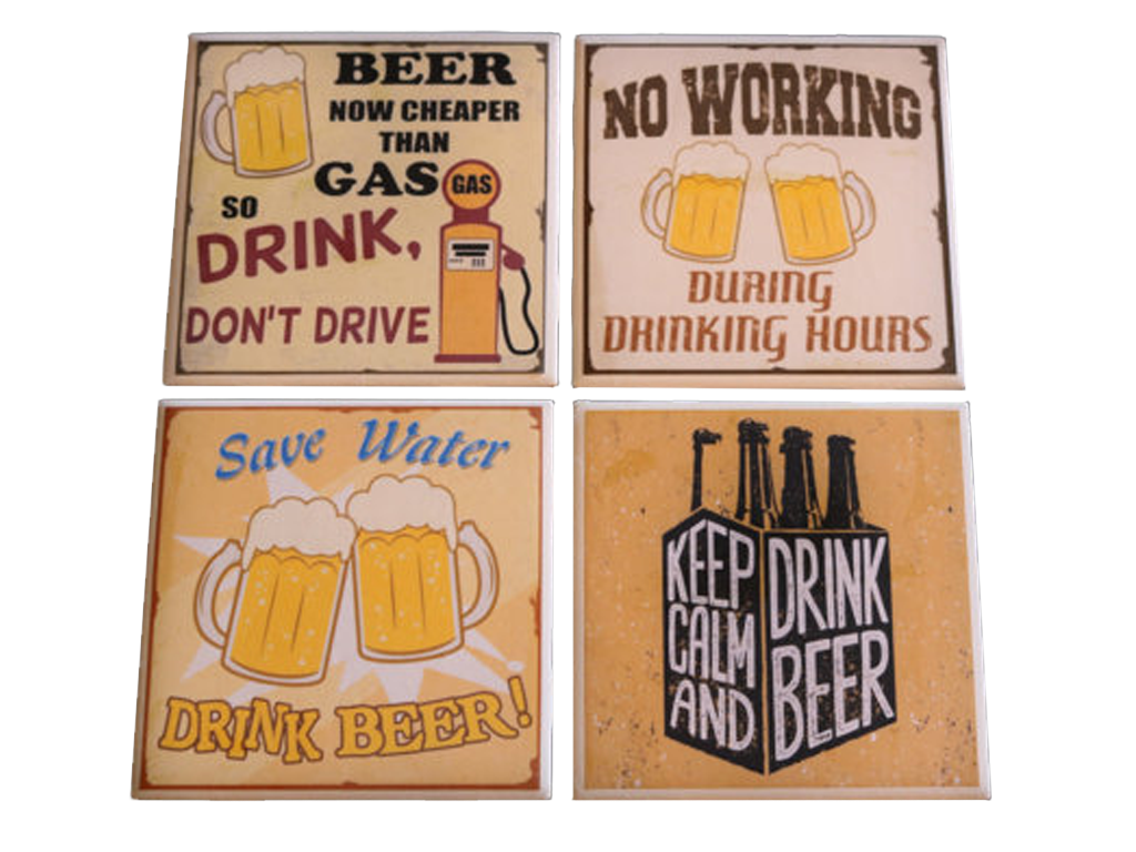 picture relating to Printable Coasters titled Beer Coasters