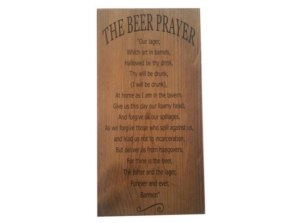 Expressions on Signs: The Beer Prayer