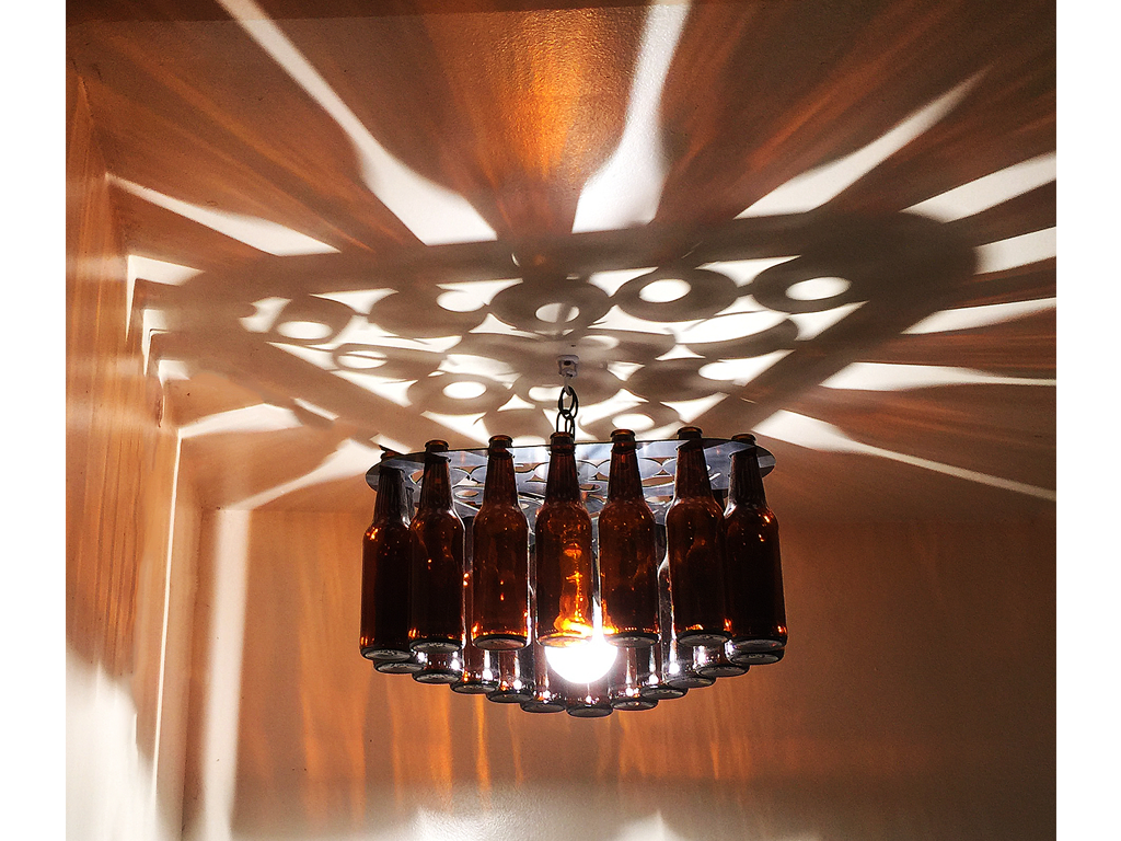 Billiard Rack Beer Bottle Light