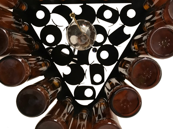 Wow Factor Lighting: Billiard Rack Beer Bottle Light
