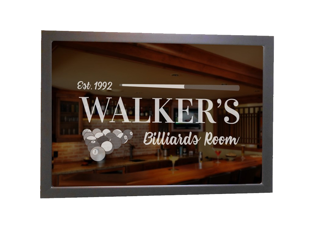 Custom Billiards Bar Mirror