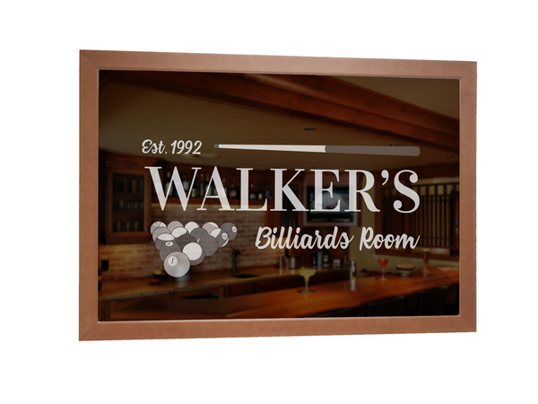 Lifetime Creations: Custom Billiards Bar Mirror