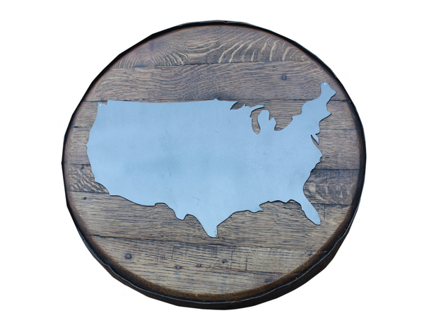 BarHome Designs: Choose Your State Oak Barrel