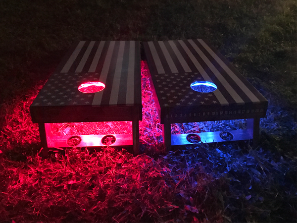 JTBs Wood Works: American Flag Cornhole