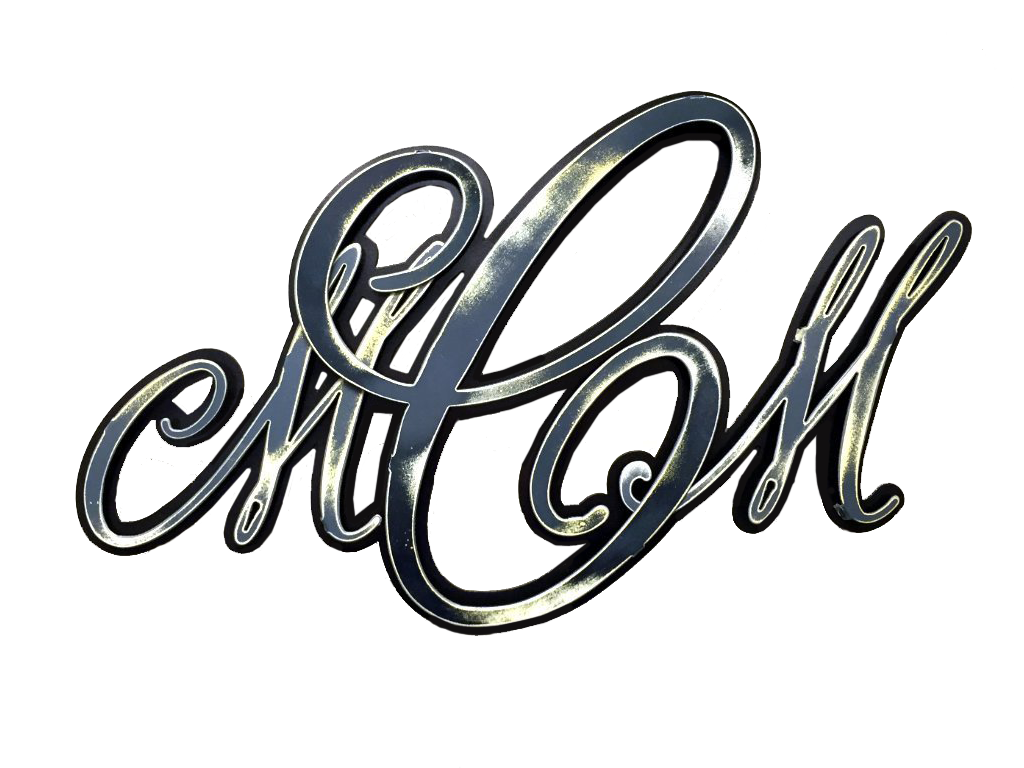 Custom Monogram Metal Artwork