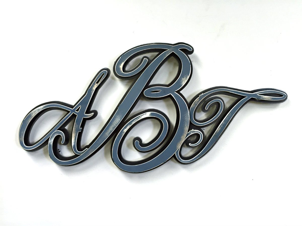 Hex Head: Custom Monogram Metal Artwork