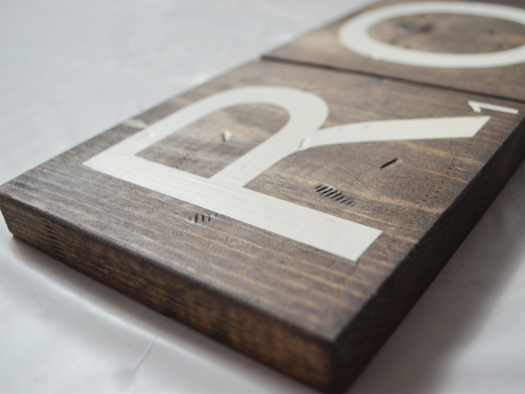 Once Wood: Game Room Wooden Scrabble Letters