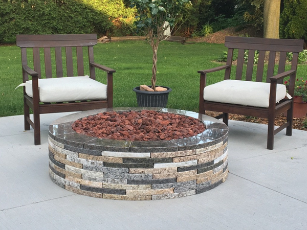 Custom Granite Fire Pit